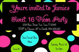 sweet birthday invitations templates invitations design neon sweet 16 birthday invitations templates