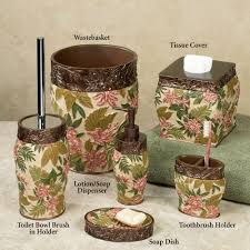 masks bathroom accessories set personalized potty: home exclusives exclusive bath decor tropical haven bath accessories