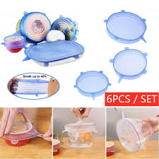 <b>6pcs</b>/<b>sets</b> food grade <b>silica gel</b> fresh-keeping cover fresh-keeping film