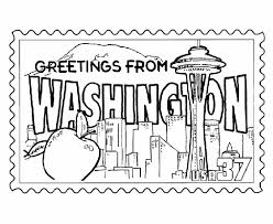 Small Picture Washington State Stamp Coloring Page USA Coloring Pages