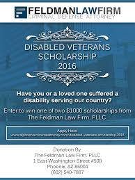 Disabled Veterans Scholarship - The Feldman Law Firm PLLC