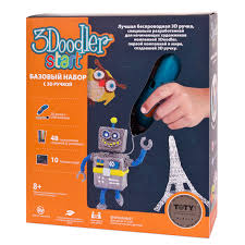 Базовый набор с <b>3D</b>-<b>ручкой 3Doodler</b> Start от <b>Wobble</b> Works, 3DS ...
