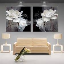 Modern 3D white lotus definition pictures <b>canvas Home Decoration</b> ...