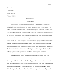 narrative essay lost in the forest