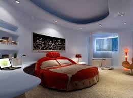 decor red blue room full: light blue bedroom and red bed