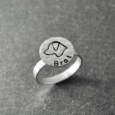 <b>Лабрадор кольцо</b>, engravable <b>кольцо</b>, гравировкой, серебряные ...