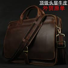 Luxury Italian Genuine <b>Leather</b> Men's <b>Briefcase Business Bag</b> ...
