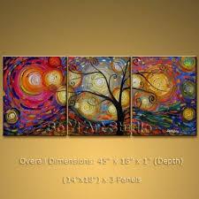 Contemporary Art <b>Abstract</b> Oil Painting <b>Money Tree</b> On Canvas ...