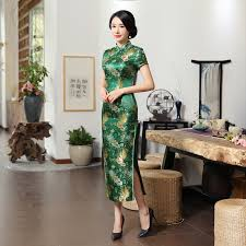 <b>New Summer</b> Green Rayon Cheongsam Vintage <b>High Quality</b> ...