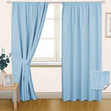 curtains pair blue
