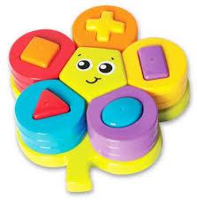 Playgro 22-Piece Shape Sorting <b>Flower Puzzle</b> Yellow/multi   Cool ...
