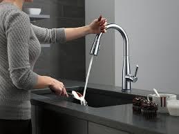 Delta Touch Kitchen Faucet Delta Faucet 9113t Ar Dst Essa Single Handle Pull Down Kitchen