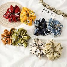 Floral Hair Scrunchies <b>Ponytail Holder Hair Ties</b> Rope <b>High Elastic</b> ...