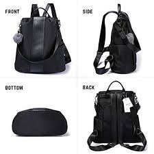 <b>Women Backpack</b> Purse Waterproof Nylon Anti-theft <b>Rucksack</b> ...