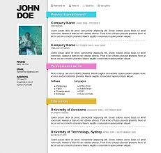 the best free premium cv resume website template evohosting awesome online cv resume online resume templates free