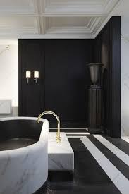 black white bathrooms home