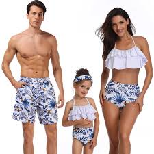 summer family matching outfits look <b>mother daughter bikini</b> ...