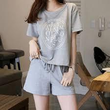 Brand New Pajamas <b>Women'S Summer</b> Cotton Short Sleeve <b>Korean</b> ...