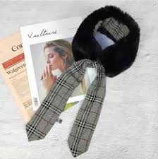 5*110 cm Womens Warm Bow Tie Neck Warmer Plush Faux <b>Fur</b> ...