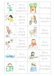 what do you like to do primary efl resources memory game to practise the present continuous