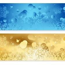 Blue And <b>Gold</b> Abstract <b>Christmas</b> Banners - 10346 - Dryicons