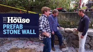 Building a Prefab <b>Stone Wall</b> | This Old <b>House</b> - YouTube
