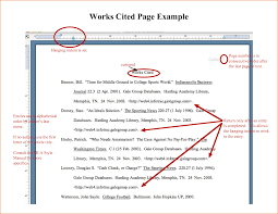 examples of works cited pages  incident report template works cited page example   pdf by cuv