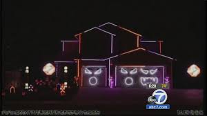 thieves return stolen lights to riverside halloween house com a home in riverside is known for its halloween lights display