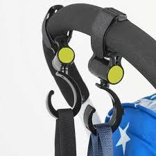<b>2Pcs</b>/<b>Lot Baby</b> Stroller Hanger Bag <b>Stroller hooks</b> Pram Rotate 360 ...