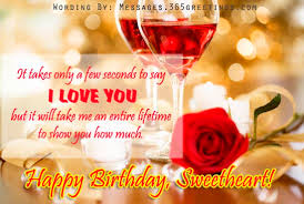 Pin Romantic Birthday Wishes For From Wife Husband Lover Happy On ... via Relatably.com