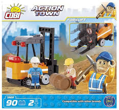 Купить <b>Конструктор Cobi</b> Action Town 1668 Вильчатый <b>погрузчик</b> ...