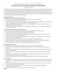 resume example business cover letter format job application letter position description 2010 2011 word resident director cover letter