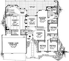 Pueblo Style Ranch Home Plan   W   st Floor Master Suite    Floor Plan