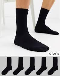 <b>Набор</b> из 5 пар черных носков <b>New Look</b> | Wamsi