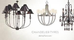 types bedroom chandeliers