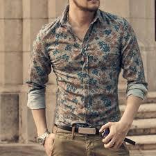 <b>Men shirt Floral</b> printing long sleeve <b>shirts men</b> clothes <b>flowers</b> ...