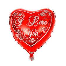 """Фольгированный <b>воздушный шар</b> """"I <b>love</b> you"""" (45 см)"""