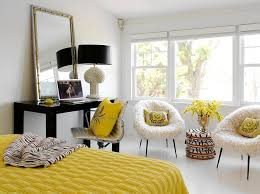 view in gallery fun yellow accents in the black and white bedroom black bedroom furniture hint