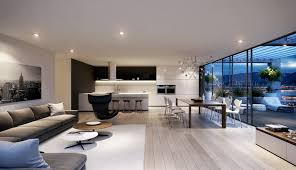 elegant living room interior with floor to ceiling windows design and stylish seating furniture amazing modern living room