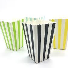 12 шт., <b>складные</b> коробки для Конфета попкорн в полоску ...