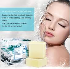 <b>100g Sea Salt Soap</b> Cleaner Removal Pimple Pores Acne ...