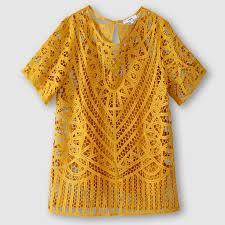 <b>Блузка</b> с вышивкой Экрю Suncoo   купить в интернет-магазине <b>La</b> ...