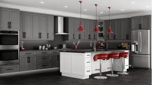 Grey Stained Kitchen Cabinets Shaker Grey Kitchen Cabinets We Ship Everywhere Rta Easy