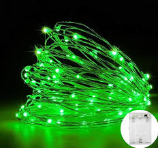MSC - 33 ft / <b>10M</b> - <b>100</b> * <b>LED</b> Battery Powered <b>Green</b> Coloured ...