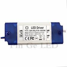 <b>3 PCS</b> Isolation 20W 30W 40W 85 277V <b>LED Driver</b> 10 18x3W ...