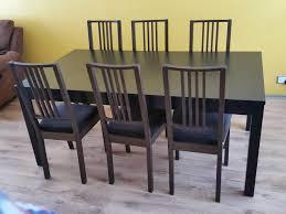 extendable bjursta dining table bench