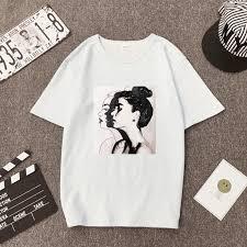 New Fashion T shirt <b>Woman Spring Summer</b> Girls Print Short Sleeve ...