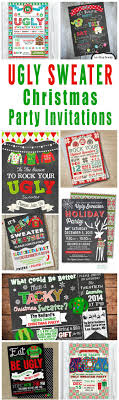 17 best ideas about holiday party invitations a tacky collection of ugly christmas sweater party invitations and other ugly sweater christmas party printables