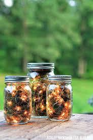 diy firefly mason jar lanterns blue mason jar string lights