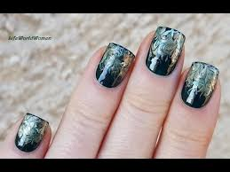 NEEDLE NAIL ART #15 - <b>Elegant Dark Green</b> Drag Marble Nails ...